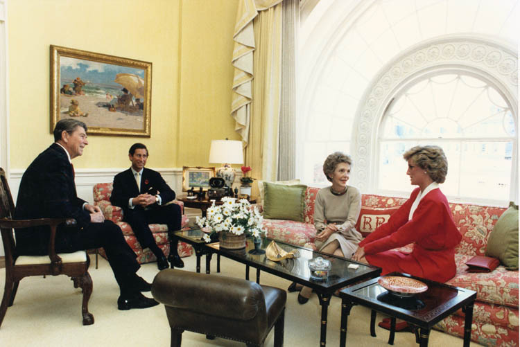Reagans_have_tea_with_Prince_Charles_and_Princess_Diana