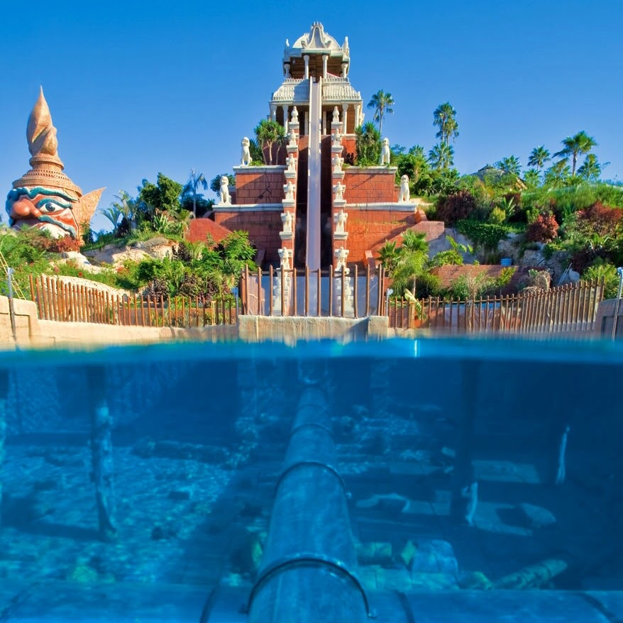 The Tower of Power attraction at Siam Park
