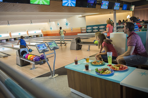Cabana Bay bowling alley