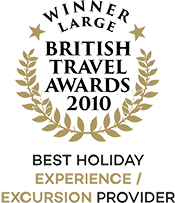British Travel Awards 2010 Winner Best Holiday Experience/Excursion Provider