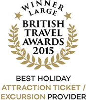 British Travel Awards 2015 Winner Best Holiday Attraction Ticket/Excursion Provider