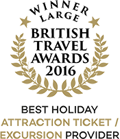 British Travel Awards 2016 Winner Best Holiday Attraction Ticket/Excursion Provider