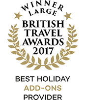 British Travel Awards 2017 Winner Best Holiday Add-ons Provider