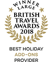 British Travel Awards 2018 Winner Best Holiday Add-ons Provider