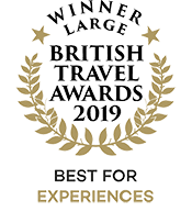 British Travel Awards 2019 Winner Best For Experiences