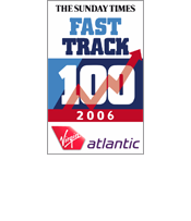 Sunday Times Fasttrack 100 2006 18th fastest growing company in the UK