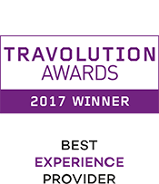 Travolution Awards 2017 Winner Best Experience Provider