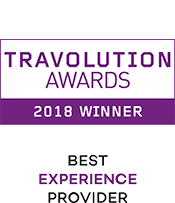 Travolution Awards 2018 Winner Best Experience Provider