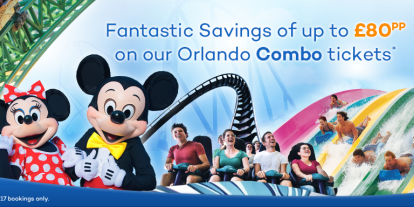 Save up to £85pp by combining your Orlando theme park tickets!
