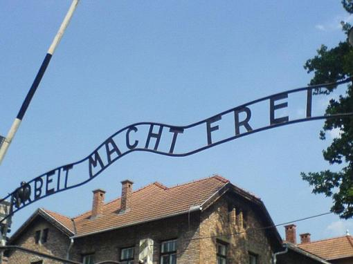 Arbeit macht frei entrance at Auschwitz-Birkenau Memorial and Museum Tour