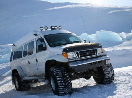Golden Circle Super Jeep Tour with Snow Mobile Expedition