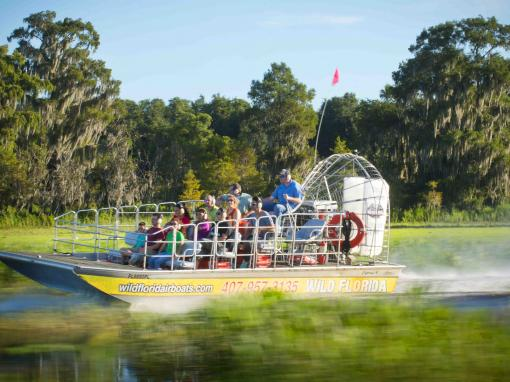 Airboat ride at Wild Florida Orlando