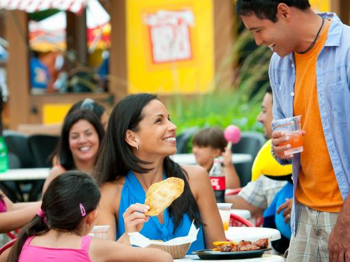 Family enjoying a meal at SeaWorld Orlando