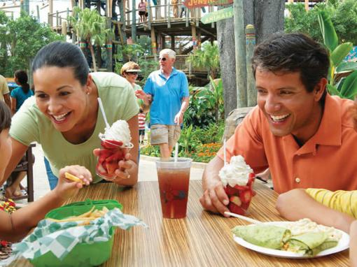 Family dining at Busch Gardens Tampa Bay