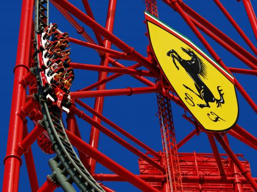 Red Force rollercoaster at Ferrari Land