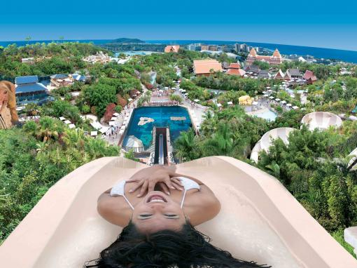 Tower of Power Water Slide at Siam Park in Tenerife