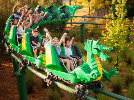 The Dragon Roller Coaster at LEGOLAND Windsor